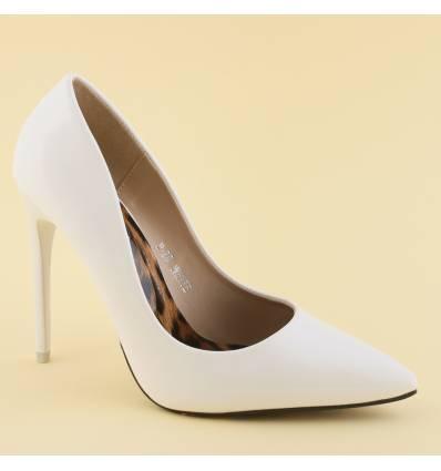 Chaussures de soirée à talon aiguille blanc Megan