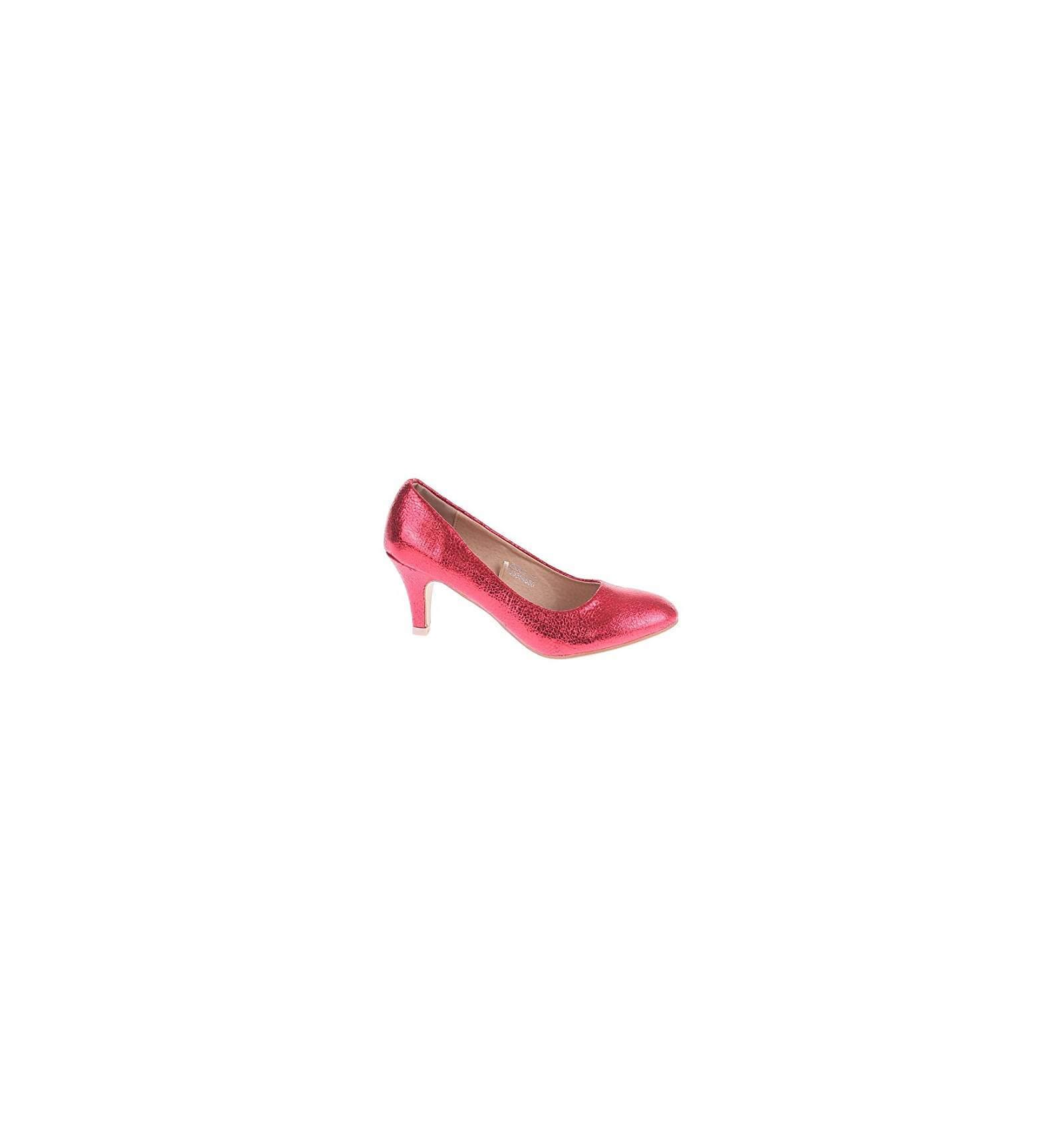 chaussures femme rouge verni de soir e talon confortable paillette. Black Bedroom Furniture Sets. Home Design Ideas