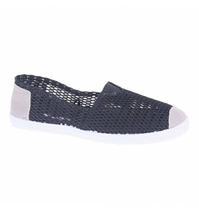 Ballerines noires aspect filet femme Esmeralda
