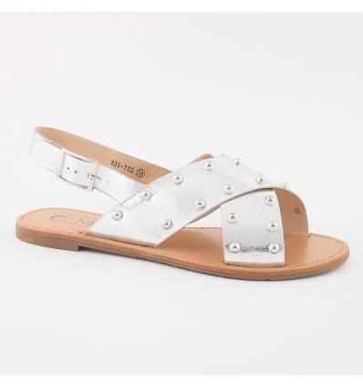 Sandales à clous argentés Cathy