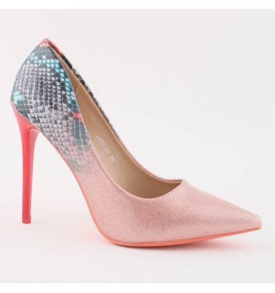 Chaussures de soirée talon haut doré Sarah